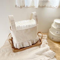 canvas fabric basket (flower)