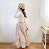 mirror spring skirt (pink silver)