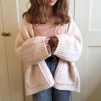 mochi knit pocket cardigan (ivory)