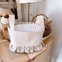canvas fabric basket (dot)