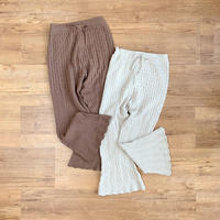 boots cut flare knit pants