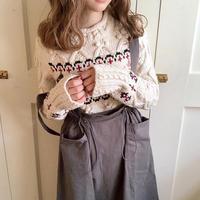 pon pon cross knit