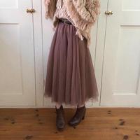 volume A line tulle skirt