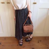 okome dot pleats skirt (black)