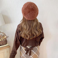 back ribbon cable knit (chocolate)
