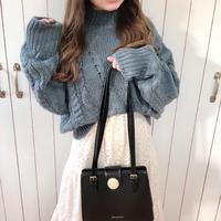 high neck alain knit (blue)