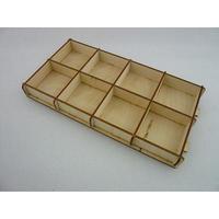 木製パ-ツケ-スキット(組立式)8個区切り ( WOOD PARTS CASE KIT )