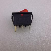 角型スリム ロッカースイッチ 赤 ランプ付
