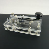 祐徳電子オリジナル 透明台座縦ぶり電鍵  ( ZHW-HAM-003 )