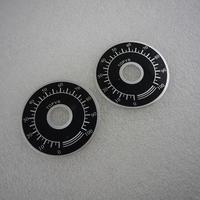 Φ40 可変抵抗器(ボリュ-ム)用銘板 2枚セット ( ZHW-469 )