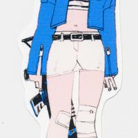 (ステッカー)青い子