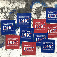 Boycott #DHC Sticker Pack for Bombing (Blue 10pcs + Red 10 pcs)