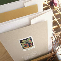 Vintage Flower Stamp Greeting Card