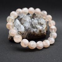「桜アゲート・珠径10-10.5mm・腕サイズ16cm」春色の珍しい天然石ブレスレット♪「AD62」
