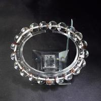 「ガーデンクォーツ・珠径9.5mm・腕サイズ17cm」透明感のある水晶に含まれたガーデンが魅力♪[AC55]