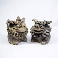 「狛犬セット」【注文制作品】寺院の入り口で門番をしているあの子たち