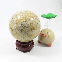 「ペトリファイドシェル(貝化石)丸玉」太古の海を想わせる丸玉。コレクションにどうぞ♪