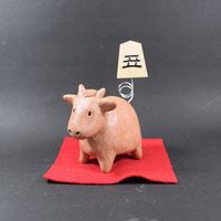 【注文制作品】【干支「丑」置物】山形天童産の高級駒使用。