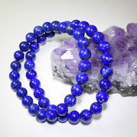 「ラピスラズリ・珠径8mm・腕サイズ16/17.5cm」青が鮮やかで美しい♪もちろん天然・無着色です♪