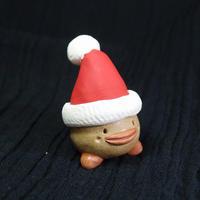 「サンタぼっくり君」【注文制作品】土ぼっくりがサンタさんになりました♪