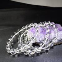 「水晶(クリスタル)・珠径10mm・腕サイズ16/17/18cm」高品質ブレスレット