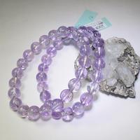「アメジスト・ラベンダーカラー・珠径8.5/9/9.5mm・腕サイズ16/16.5/17cm」人気の淡い紫色のブレスレットです♪