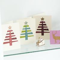 【ネコポス注文(4点まで)】クリスマスカード  ツリー
