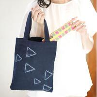 藍染めトートバッグ 三角|8348