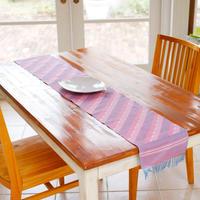 【在庫限り限定価格】ダッカ織テーブルランナー ピンク |6475