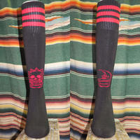 SUKARU HI SOCKS  Black/Red Line