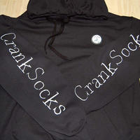 Crank socks  LOGO フードパーカー