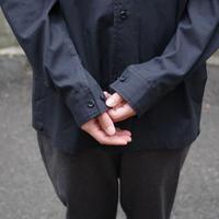 THE HINOKI / コットンネップパラシュートクロス レギュラーカラーシャツ / col.ブラック / Men's