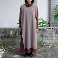 bunt / WOOL LONG TAPE KNIT VEST / col.ベージュ