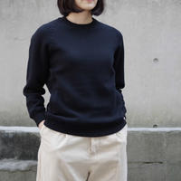 THE HINOKI / コットンウール裏起毛 スウェット / col.ブラック / Lady's