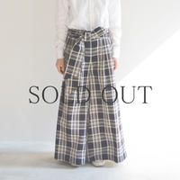 KICS DOCUMENT(KHONOROGICA) / CTTN PLAID WIDE PT W / BELT / col.グレー