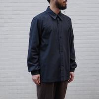 THE HINOKI / コットンネップパラシュートクロス レギュラーカラーシャツ / col.ブラック