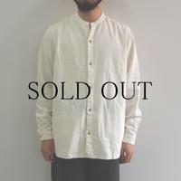 THE HINOKI / リネンコットン スタンドアップカラーシャツ / col.ナチュラル