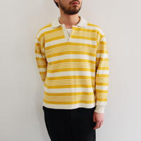 bunt / COTTON SKIPPER NECK SWEATER / col.イエロー