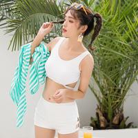 レディース 水着 体型カバー プチプラ 韓国 可愛い 大きいサイズ ワンピース  海外 ビキニ タンキニ セット