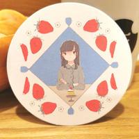 [おさかなゼリー × ぽんでCOFFEE]コースター(単品)