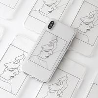 iPhoneケース #幾何学art #クリアケース #004