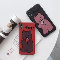 iPhoneケース  #ビスケット #ベアー #dark bear #red bear