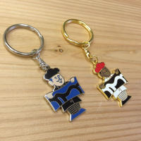 "NEW ""KAMI KEY RING"" silver & gold"