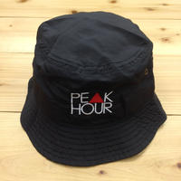 "PEAK▲HOUR ""PE▲K HOUR"" Polyester bucket-hat BLACK"