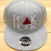 "PEAK▲ HOUR ""PE▲K HOUR"" snapback cap heather grey"