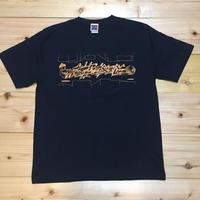 """""""シゼントモッテル"""" Spot Item T- Shirt 黒"""