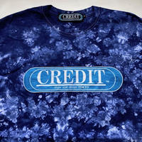 CREDIT タイダイ手染め ORIGINAL LOGO・NAVY-BLUE