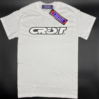"CREDIT RACING  ""PATCH"" COTTON T-SHIRTS・WHITE"