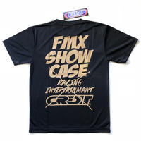 CREDIT × FMX SHOW CASE・DRY Tee・Black × Ivory