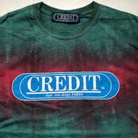 CREDIT タイダイ手染め ORIGINAL LOGO・GREEN × WINE RED
